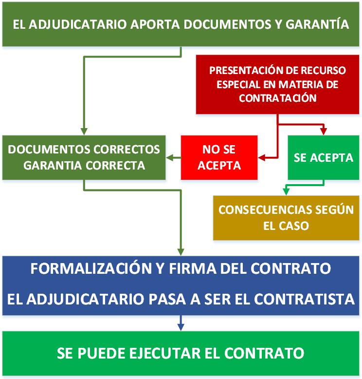 EJEMPLO DE ADJUDICACIÓN CONTRATO OBRAS SERVICIOS SUMINISTRO ESPAÑA