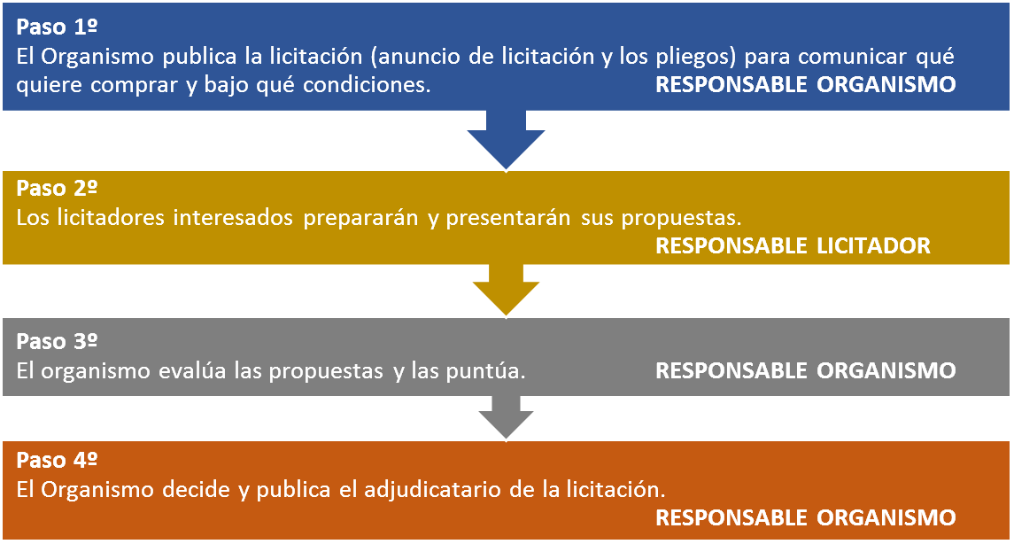 EJEMPLO DE PASOS PRESENTACIÓN LICITACIÓN PÚBLICA OBRAS SERVICIOS SUMINISTRO ESPAÑA