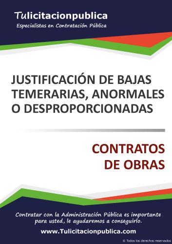 MODELO EJEMPLO JUSTIFICACIÓN BAJA TEMERARIA ANORMAL DESPROPORCIONADA OFERTA OBRAS PDF