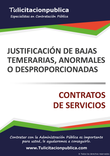 MODELO EJEMPLO JUSTIFICACIÓN BAJA TEMERARIA ANORMAL DESPROPORCIONADA OFERTA SERVICIOS PDF