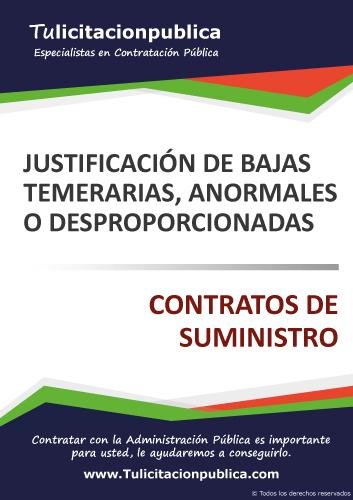 MODELO EJEMPLO JUSTIFICACIÓN BAJA TEMERARIA ANORMAL DESPROPORCIONADA OFERTA SUMINISTRO PDF